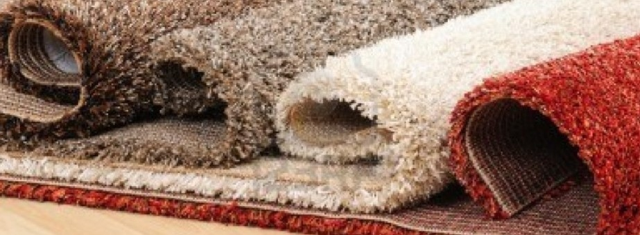 Rolled carpets – rolled out overlaid carpets showing quality & depth of thread